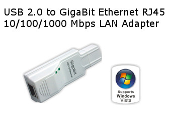 Gigabit on Usb 2 0 To Gigabit Rj45 Ethernet 10 100 1000 Lan Adapter
