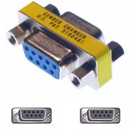 9 Pin Female / Female Adapter - Slimline