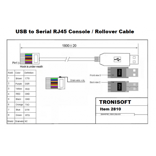 usb rj45 console cable spec 500x500 usb to serial rj45 cable for console (ftdi ft232r 1 80m) tronisoft usb to db9 serial adapter wiring diagram at n-0.co