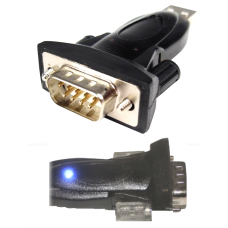 USB to RS232 Dongle with Blue Power LED - FTDI FT232
