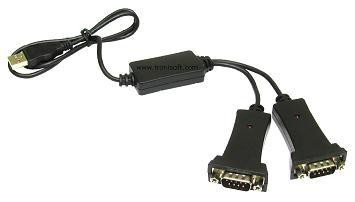 Prolific usb to serial rs232 x 2 port adapter black tronisoft - Prolific usb to serial comm port ...