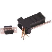 9 Pin Male to RJ45 Female Adapter