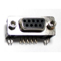 DB9 Female Right Angle PCB Connector (9 Pin DSUB)